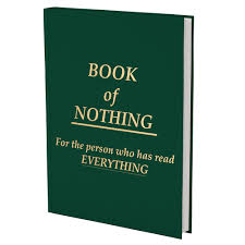 book of nothing book with no words
