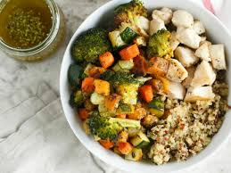 comment cuisiner du quinoa roasted vegetable and chicken quinoa bowls for two recipe food