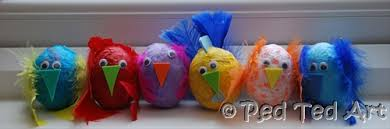 Easter Egg Decorating At Home by Kids Easter Egg Decorating Tissue Paper Chicks Red Ted Art U0027s Blog