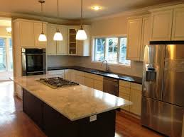Kitchens With Different Colored Islands by Kitchen Paint Colors For Small Kitchens Ideas Cabinets Stain Gas