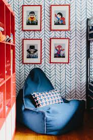 Moms Small Kids Bedroom In Blue And Red Green Childrens Colour