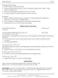 Resume Job History Format by Resume Writers In Nyc Resume For Your Job Application