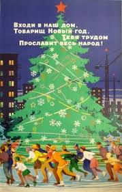 young cosmonaut with a christmas tree floating in outer space
