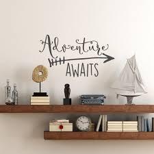 Travel Theme Aliexpress Com Buy Travel Theme Adventure Awaits Vinyl Wall