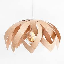 lotus oak wooden veneer light by yndlingsting made in denmark on