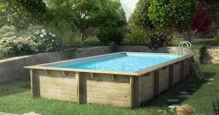 piscine hors sol en bois cerland weva rectangulaire de piscine