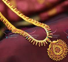 fashion long gold necklace images Nl3783 beads design ruby gold plated haram long necklace fashion JPG