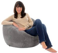 Big Bean Bag Chair by Giant Beanbag Steel Jumbo Cord Giant Bean Bag Chair Amazon Co