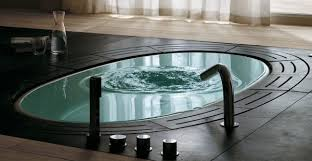 Oval Bathtub Bathroom Oval Bathtub Black Floor Design