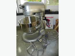 Used Kitchen Aid Mixer by Kitchenaid Silver 6 Qt 575 Watt Stand Mixer Includes Slicer