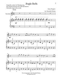 recorder notes for jingle bells information