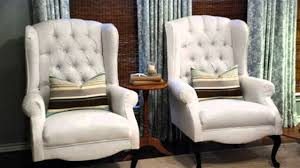 Upholstery Ideas For Chairs How To Reupholster Wing Back Chair Youtube Wingback Upholstery