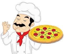 chef pizza chef with pizza stock vector colourbox