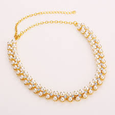 long pearl necklace set images Buy online necklace set simulated white pearl wedding necklace jpg