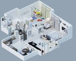 Apartment Designs Shown With Rendered D Floor Plans - Apartment design plan