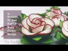 Rose Flower Design Art In Beetroot Rose Flower Vegetable Carving Garnish Roses