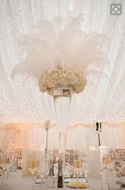 white ostrich feather centerpieces impressive great ideas for weddings 17 best ideas about great gats