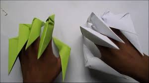 Origami Paper Claws - how to make paper claws origami