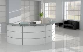 Curved Office Desk Furniture Furniture Silver And White Reception Office Furniture Design For