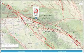 Earthquake Map Los Angeles by San Andreas Fault Earthquake Wakes San Bernardino And Riverside