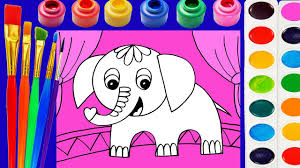 cute animals coloring page learn colors for children youtube