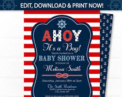 nautical baby shower invitations nautical baby shower etsy