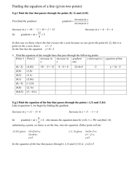 equation of a line from two points by tristanjones teaching