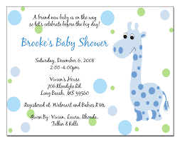 Example Of Invitation Card Baby Shower Invitation Wording For Gift Cards Baby Shower Diy