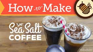 Salt In Coffee How To Make Sea Salt Coffee U0026 Cream Iced U0026 Recipe Youtube