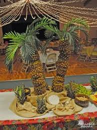 pineapple palm tree simple fast beautiful centerpiece your