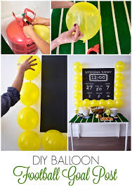 Seeking Balloon Bowl Balloon Diy Idea Balloon Football Goal Post