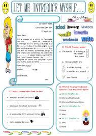 9 free esl let me introduce myself worksheets