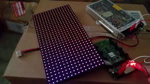 crockett fantasy of lights crockett fantasy of lights p10 panel test with colorlight 5a 75b led