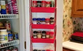 Red Spice Rack Old Weathered Door Spice Rack Hometalk