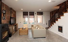 how to stain concrete floors for a modern basement with a stained