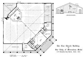 Catholic Church Floor Plans House Of Worship Gallery U2013 Associates In Architecture And Planning