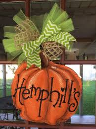 fall pumpkin decoration fall and halloween door hanger decoration burlap pumpkin halloween