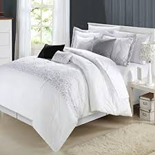 Bed Sets White Chic Home Grace 8 Comforter Set White
