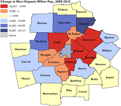 Chicago To Atlanta Map by Segregation U0027s New Geography The Atlanta Metro Region Race And