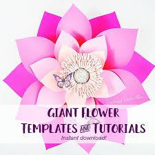wedding backdrop template diy flowers paper flower templates tutorials flower wall