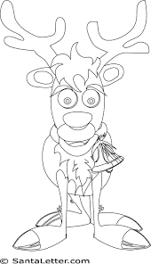 christmas rudolph red nosed reindeer coloring pages