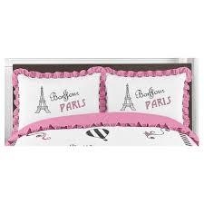 pink u0026 black paris wall border sweet jojo designs target