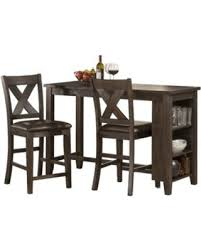 3 piece counter height table set slash prices on spencer 3 piece counter height dining set
