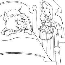 red riding hood coloring pages visit sick grandmother