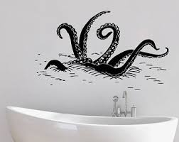 octopus wall decal etsy