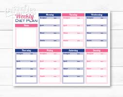 printable meal planner with calorie counter customizable meal planner with calorie tracker meal planner