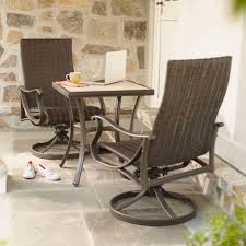 patio dining sets 3 piece patio set metal bistro table and 4