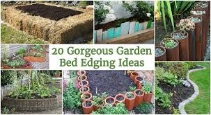 edging garden bed gorgeous garden bed edging ideas that anyone can