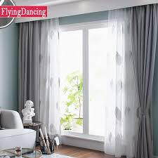 Curtains White And Grey Nordic Grey Solid Curtains For Bedroom Modern Living Room Curtains