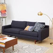 indigo leather sofa eddy sofa indigo 208 cm west elm uk